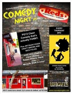 REDS comedy nite JUNE 5