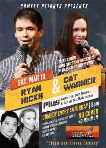 ryan hicks and cat wagner at comedy heights
